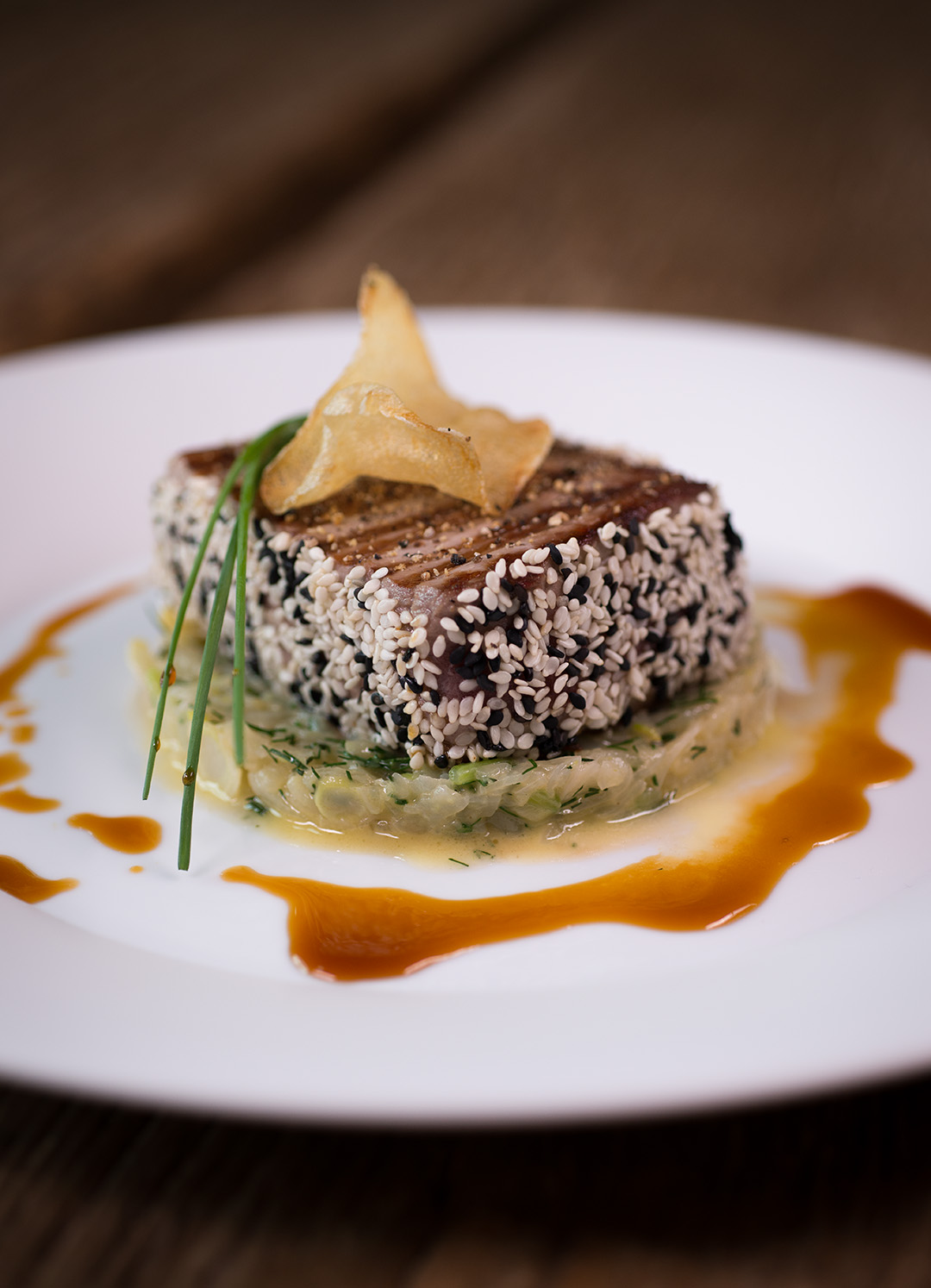 steak de thon aux graines de s same et au fenouil la banque de luxembourg avec werner wagner. Black Bedroom Furniture Sets. Home Design Ideas
